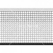Сетка большой теннис Д=2,0 мм яч. 40*40 мм цв. черн. Размер 1,07*12,8 м окант. верх лента 2,5 см ПП