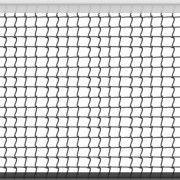 Сетка большой теннис Д-2,2мм, яч. 40x40 мм, цв. белый-зеленый Размер 1,07x12,8 м. ПП Верх лента 5 см