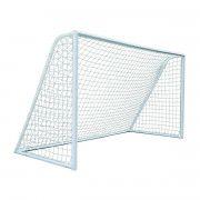 Сетка футбол Д=2,0 мм, яч.100*100 белый. Размер 2,5*7,5*2,0 м ПП, (пара).