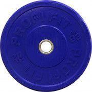 Диск для штанги каучуковый, цветной PROFI-FIT D-51, 20 кг