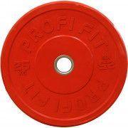 Диск для штанги каучуковый, цветной PROFI-FIT D-51, 25 кг