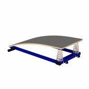Мостик гимнастический ZSO, подкидной гнутый (металл)